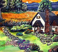 a cottage sunset by LoreLeft27