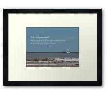 Shoreline Devotion Framed Print
