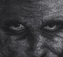 Black and White version of Heath Ledger as The Joker  Sticker