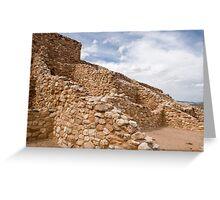 Tuzigoot Indian Ruins Greeting Card
