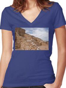 Tuzigoot Indian Ruins Women's Fitted V-Neck T-Shirt
