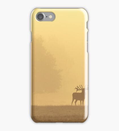 Red Deer Sunrise Landscape iPhone Case/Skin