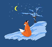 Winter Night Fox by thekohakudragon