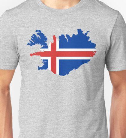 Iceland Flag Map Unisex T-Shirt
