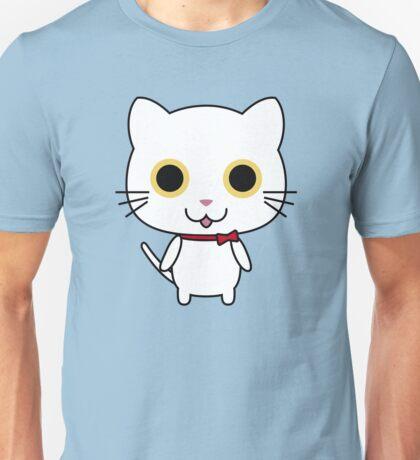Cute Happy White Kitty Unisex T-Shirt