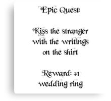 Wedding Ring Quest Canvas Print
