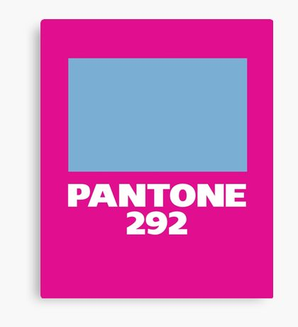 Pantone 292 Canvas Print