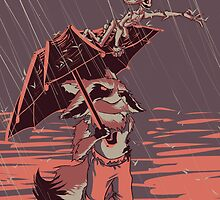 In the Rain by NikoDraws
