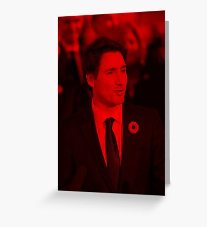 Justin Trudeau - Celebrity Greeting Card