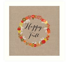 Happy Fall Art Print