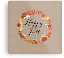 Happy Fall Metal Print