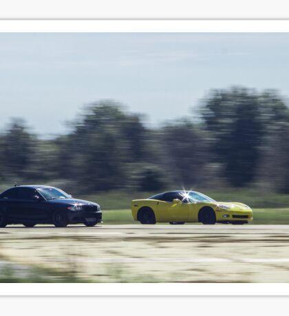 BMW 135i vs Corvette C6 Z06 Sticker
