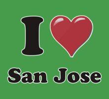 I Love San Jose Kids Clothes