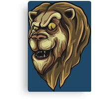 Lion Illustration Canvas Print