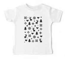 Pixel Pattern - Winter Forest - Black and White Vêtement enfant