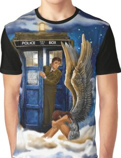 time and space traveller with Crying AngeL Graphic T-Shirt