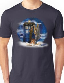 time and space traveller with Crying AngeL Unisex T-Shirt