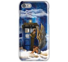 time and space traveller with Crying AngeL iPhone Case/Skin