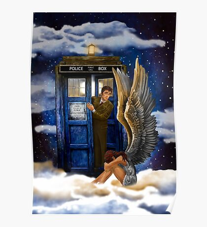 time and space traveller with Crying AngeL Poster