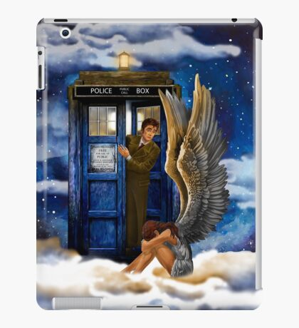 time and space traveller with Crying AngeL iPad Case/Skin