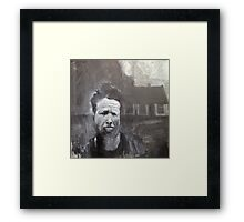 Tom Waits, What's he building in there? Painting Framed Print