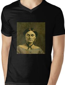 Victorian Lady Zombie Mens V-Neck T-Shirt