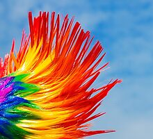 Brighton Pride - Rainbow Mohican by Richard Burniston