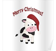 Merry Christmas! Cow Poster