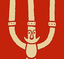 Happy Santa Candlestick Man by davidyarb