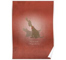 Aristocats inspired design (Napoleon & Lafayette). Poster