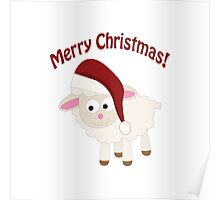 Merry Christmas Lamb Poster