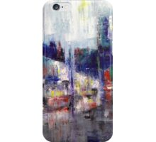 Rainy City Painting. iPhone Case/Skin