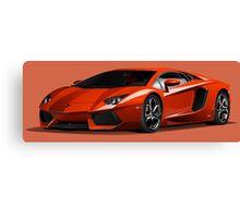 Realistic Lamborghini Canvas Print