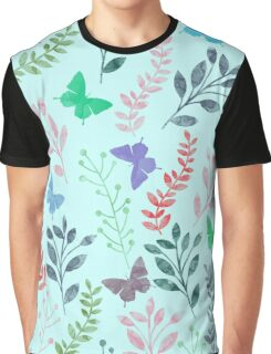 Floral and Butterfly IV Graphic T-Shirt