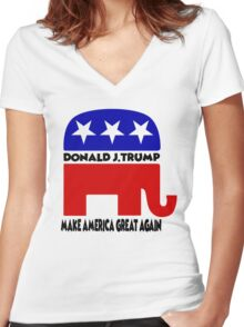 Donald J. Trump - Trump Women's Fitted V-Neck T-Shirt