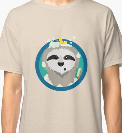 Bathing Sloth with bubbles Classic T-Shirt