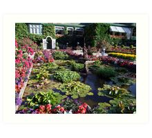 Italian Garden at the Butchart Gardens Art Print