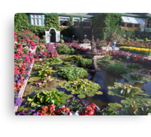 Italian Garden at the Butchart Gardens Metal Print