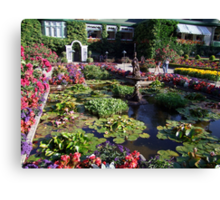 Italian Garden at the Butchart Gardens Canvas Print