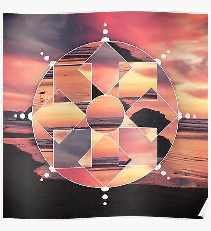 Geometric Seashore Poster