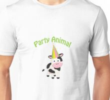 Party Animal cow Unisex T-Shirt