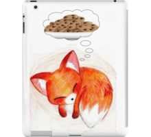 Red fox needs cookies iPad Case/Skin