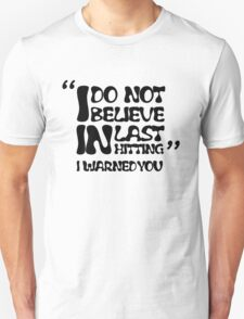 My AD Carry Excuse Black Text T-Shirt