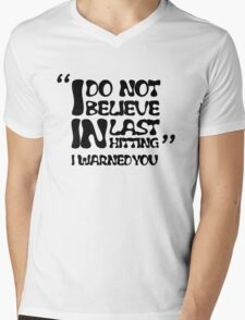 My AD Carry Excuse Black Text Mens V-Neck T-Shirt
