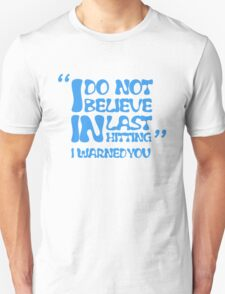 My AD Carry Excuse Blue Text T-Shirt