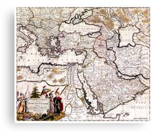 Map of The Ottoman Empire - 18th century Canvas Print