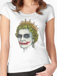 God Save the Villain Women's Fitted Scoop T-Shirt