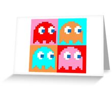 Pacman Ghosts Pop Art Greeting Card