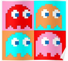 Pacman Ghosts Pop Art Poster