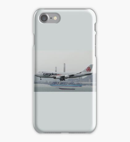 Cargolux Italia 747F Landing in Hong Kong iPhone Case/Skin